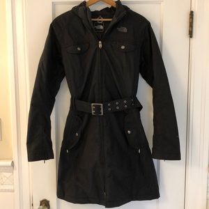North Face Trench Coat Hyvent Insulated